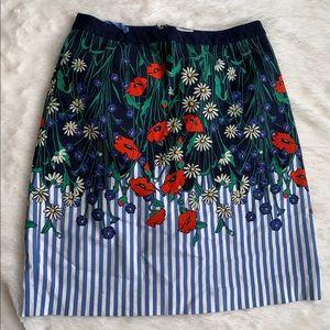 Floral Seersucker Skirt